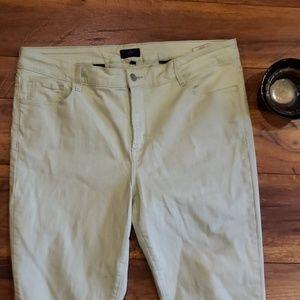 NYDJ Mint Green Ankle Jeans size 16W